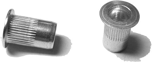 25 pcs 8-32 Flat Head Ribbed Body Aluminum Rivet Nuts LFA-08080R …