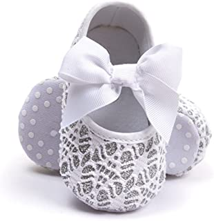 Baby Girl Moccasins Princess Sparkly Mary Jane Dresses Shoes Premium Lightweight Soft Sole Crib Shoes Toddler Shoes
