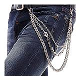 BOMPOW Biker Skull Wallet Chain Punk Men Cool Skull Punk Trouser Long Wallet Key Chain For...