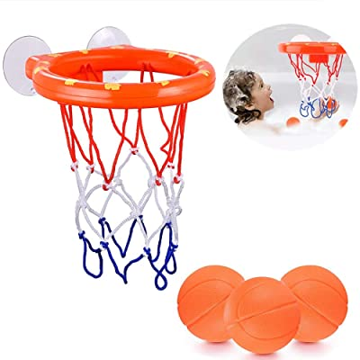 ALLCELE Kids Bath Basketball Hoop  Balls Playse...