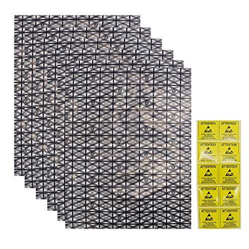 Antistatische Beutel mit antistatischem Aufkleber, 30 x 40 cm, offene Oberseite, ESD-Abschirmung, antistatische Tasche für elektronische Komponenten, 20 Stück