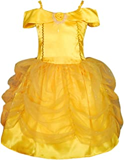 Dressy Daisy Girls' Princess Belle Costume Party Halloween Fancy Dresses Up