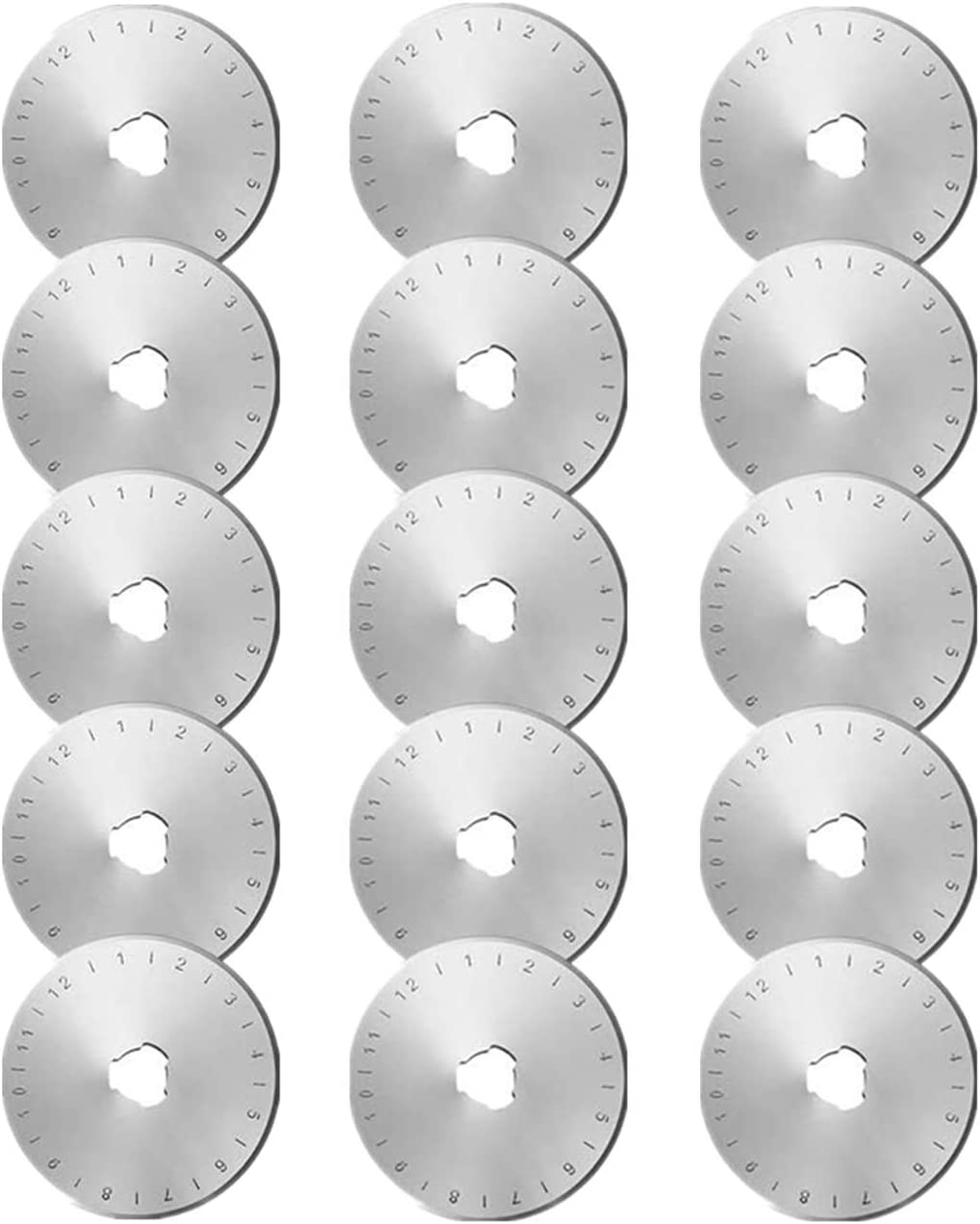 15 Pieces 45 Dallas Mall mm Rotary Cutter Round Ranking TOP13 Blades Quilting Blade Replac