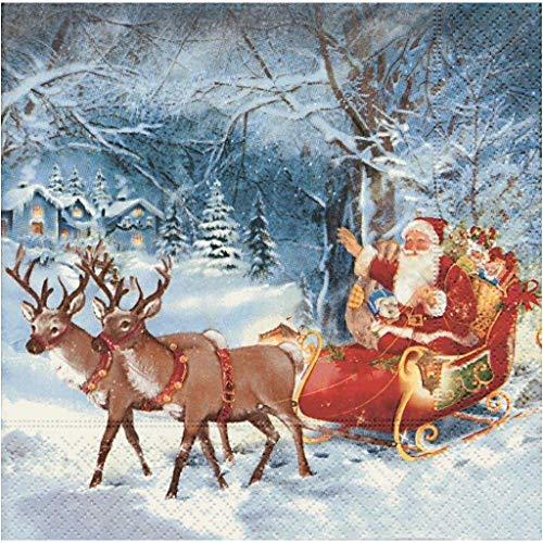 Paper + Design GmbH tabletop Santa ON Tour Servietten Weihnachten 33x33cm 20 Stück