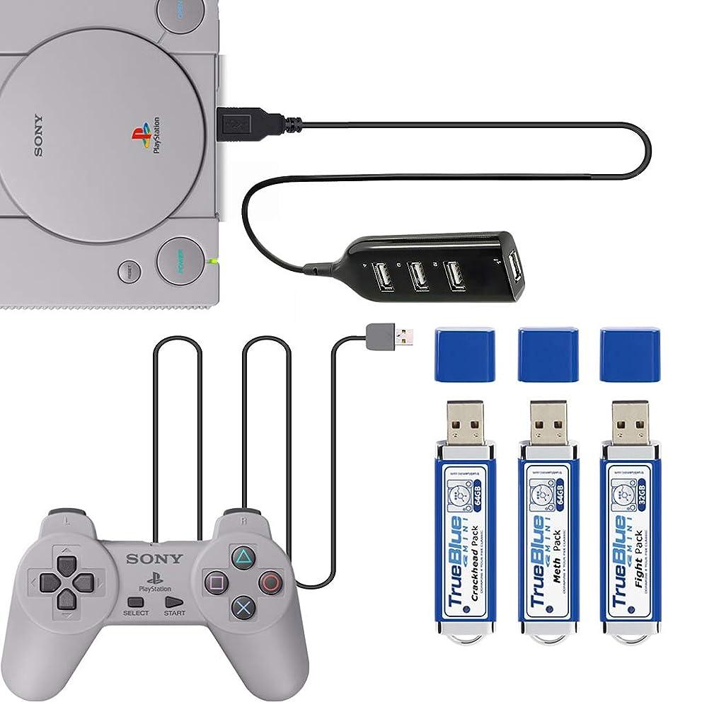 GMSP 64GB True Blue Mini Crackhead Meth Pack for Playstation Classic Games & Accessories 101&58 Games V1