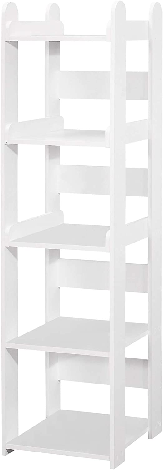 Pilaster Design Contemporary Time sale Max 66% OFF Margo White Shelf Tier Open 5 Wood