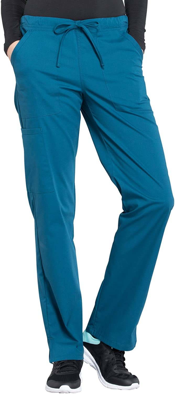 Cherokee Workwear Professionals Women's Mid Rise Straight Leg Drawstring Scrub Pant