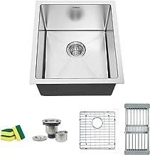 TORVA 17-Inch Undermount Kitchen Sink, 16 Gauge Stainless Steel Single Bowl - 17 x 19 x 9 Inch Deep Bar/Prep Basin