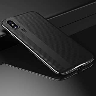 DEMEDO Compatible Apple iPhone X Cases, (Bumblebee Series), iPhone X All-Round Protection Cover, Camera Lens Protection, [Carbon Fiber] Fashion Back Shell for iPhone 5.8 inch - Silver