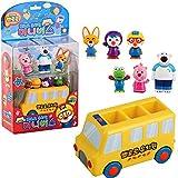 Pororo Kindergarten Mini Bus Melody Sound Voice LED Effect 6 PCS Characters Figures