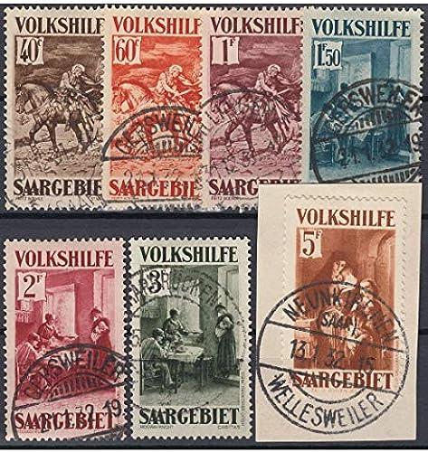 Goldhahn SAAR Nr. 151-157 gestempelt geprüft und signiert Ney Briefmarken für Sammler