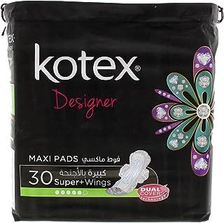 Kotex Pads Super Maxi, 30 Pieces
