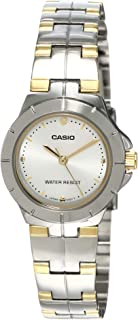Casio Enticer Analog Silver Dial Watch For Women - Ltp-1242Sg-7Cdf (A907), Silver Gold Tone Band
