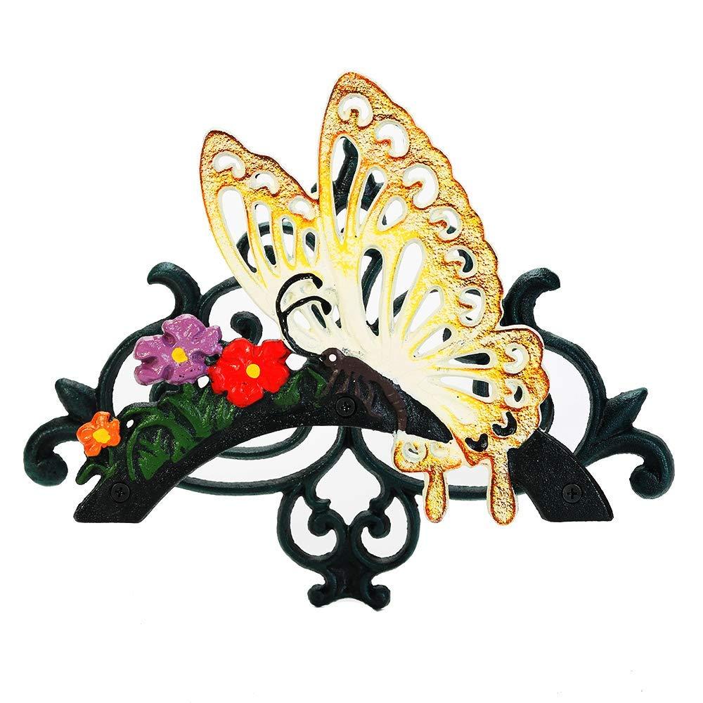 Sungmor - Soporte para manguera de jardín de hierro fundido resistente | Soporte de pared para manguera de agua | Carrete decorativo para interior y exterior | 50 pies 75 pies 100 pies: Amazon.es: Jardín