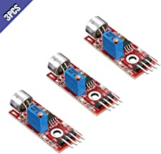 Comidox 3Pcs High Sensitivity Microphone Sensor AVR PIC Sound Detection Module for Arduino
