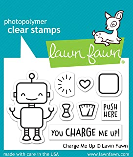 "Lawn Fawn Charge Me Up 2""x3"" Clear Stamp Set (LF1774)"