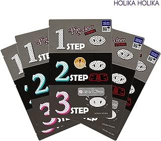Holika Holika Pig Nose Clear Blackhead 3-Step Kit Strong Pack of 5