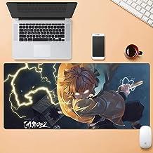 Dmsbzd Tokisaki Kurumi Nightmare Fighting Stance Smile Red Background Anime Mouse Pad PC Big Table Pad Size Comfortable Feel Sliding Lock Laptop Keyboard Pad