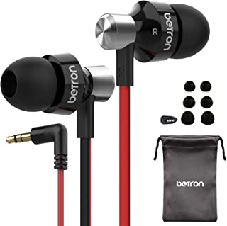 Betron DC950 Earbuds, Noise Isolating Earphones, Portable in Ear Headphones, Bass Driven Sound, Compatible with iPhone, iPad, iPod, MP3 Players, Samsung and Tablets, Black
