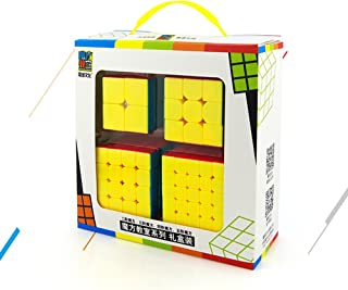 Speed Cube Puzzle Pack | 2x2 3x3 4x4 5x5 Stickerless Cube Set | 4 Pieces Magic Cubes Collection | Puzzle Toys Brain Teaser Gifts