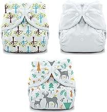 Thirsties Duo Wrap Snaps Diaper Covers 3 pack Combo: Woodland, Blackbird, White Sz 2