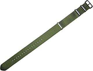20mm TIMEWHEEL NATO MOD G10 Olive Drab Green Nylon Military Watch Band Strap
