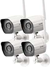 Zmodo 1080p Full HD Outdoor Wireless Security Camera System, 4 Pack Smart Home Indoor Outdoor WiFi IP Cameras with Night V...