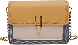 Crossbody bag Simple fashion Shoulder Bags Contrast color Small square bag Multicolor