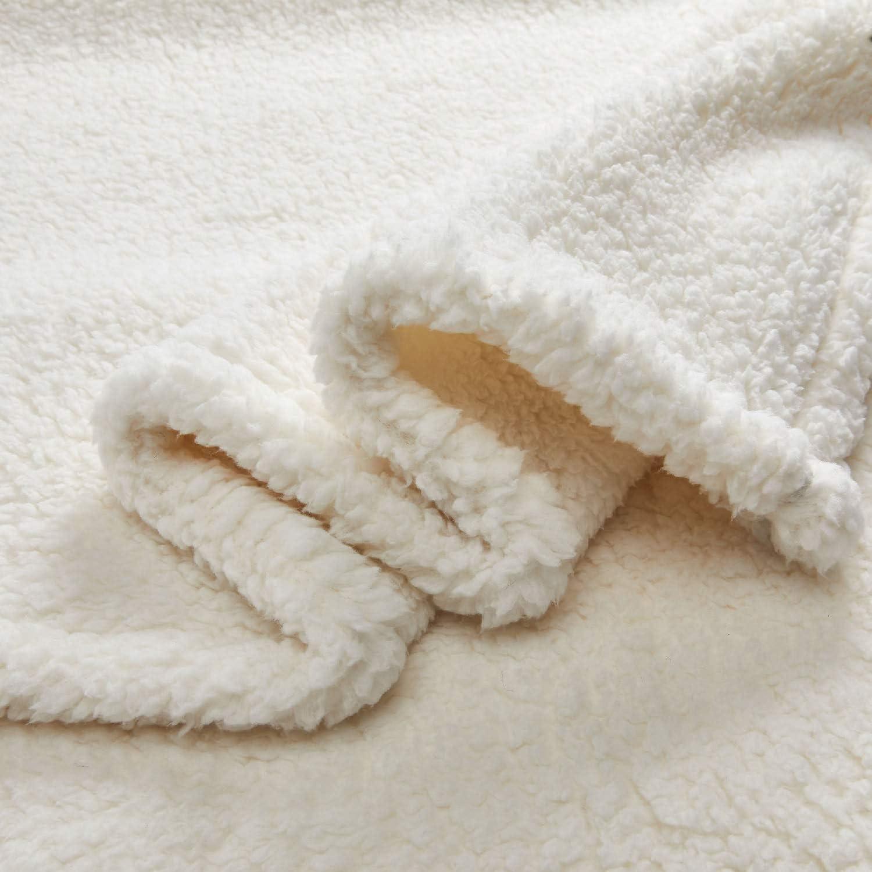 GONAAP Sherpa Throw Blanket Cozy Fluffy Warm Microfiber Fleece Shaggy Lightweight Teddy Plush for Coach Sofa Travel Outdoor Camping Burgendy 5060