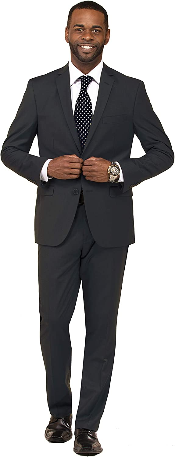 Danny Colby Slim Fit Suit for Men 2 Piece Mens Suit Suit for Wedding and Formal Event, Business Suit Charcoal 34S