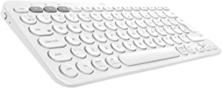 Logitech K380 - Teclado inalámbrico, Bluetooth multidispositivo con Easy-Switch para hasta 3 dispositivos, compacto PC, portátiles, Windows, Mac, Chrome OS, Android, iPad OS, Apple TV, Color Blanco