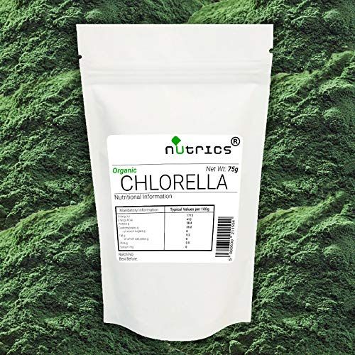 Nutrics 100% Pure Organic CHLORELLA Powder 200g Superfood Greens Detox