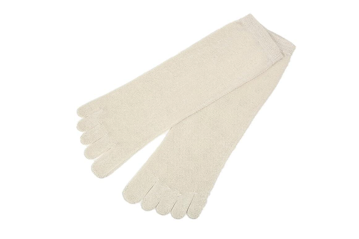 不忠バランスのとれた定期的にutatane 冷えとり靴下 大人用 シルク100% 5本指ソックス