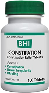 BHI Constipation Relief Natural, Safe Homeopathic Relief - 100 Tablets
