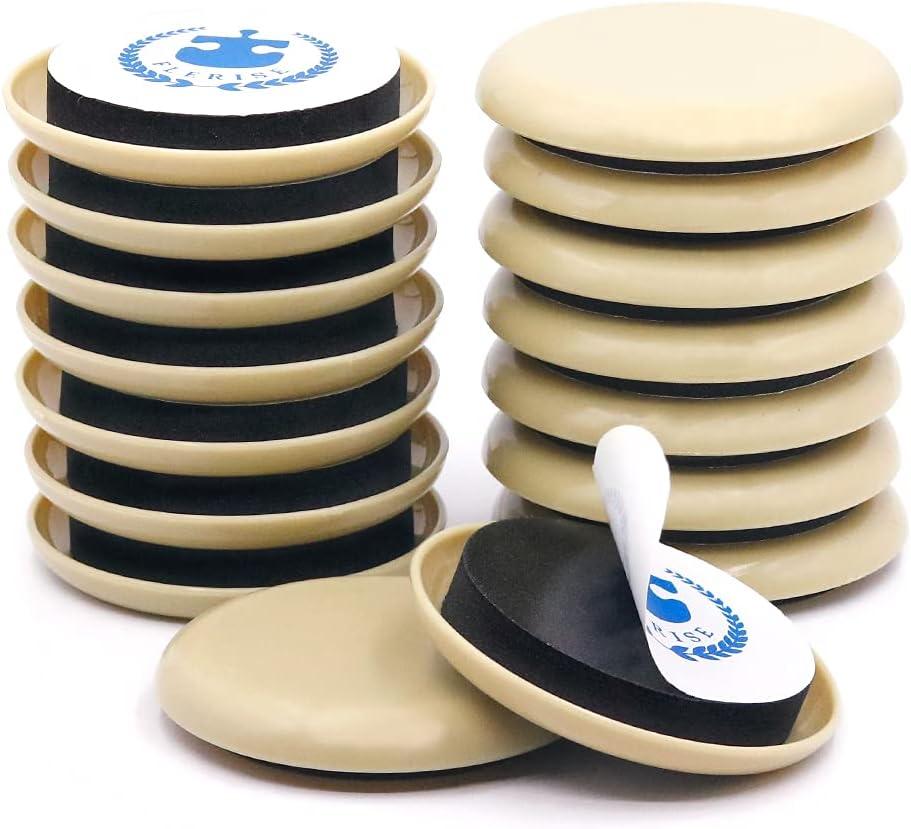 Furniture Sliders for Carpet & Hard Floor,16 PCS 2.5 Inch Self-Stick Furniture Sliders Movers Carpet Coasters for Carpet Chair Table Desk Reusable Furniture-Adhesive Glider Pads (for Carpet)