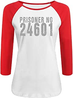 Women's Prisoner No Les Miserables 24601 Baseball 3/4 Sleeve T-shirts