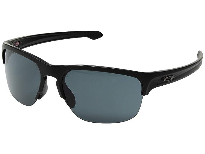 Oakley Sliver Edge (Matte Black w/ Prizm Grey) Sport Sunglasses