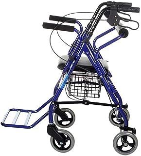 Andadores de ruedas Walker Carrito de compras - Walker Old Man Cochecito Scooter Carrito de compras