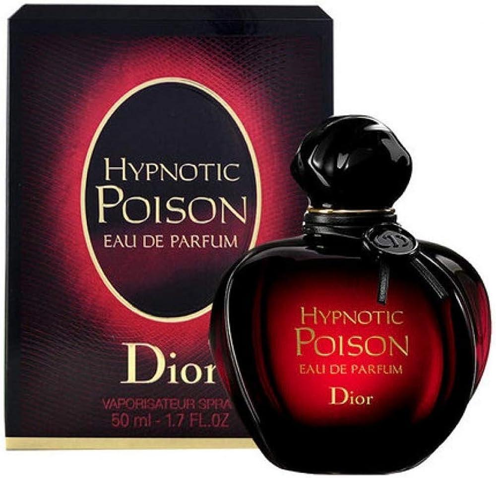 Christian dior, hypnotic poison, eau de parfum,profumo  per donna con vaporizzatore, 50 ml 3348901192224