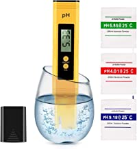 Digital PH Meter, PH Meter 0.01 Resolution Pocket Size Water Quality Tester with ATC 0-14 pH Measurement Range for Househo...