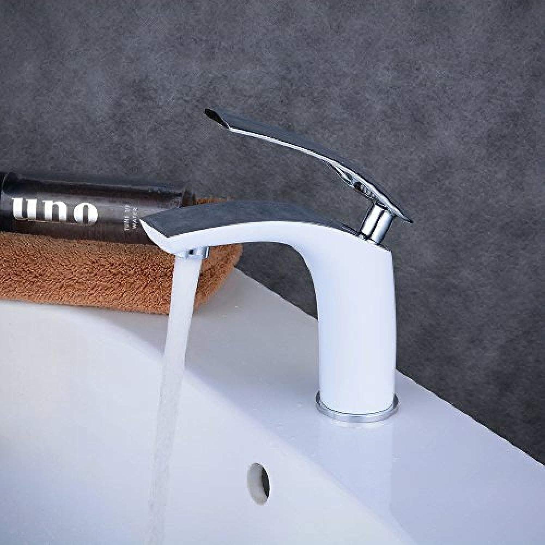 bienvenido a comprar Grifo para cuarto de bao, mezclador para lavabo de unamanijaajustable, unamanijaajustable, unamanijaajustable, frío y caliente, pintura blancoa y cromada,BL6622CW  barato y de alta calidad