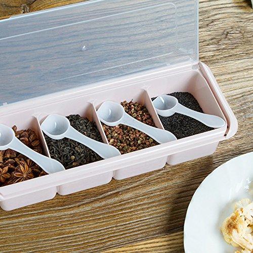 La cocina es un cuatro-style sabor Kit Cartucho de plástico Home esencia de pollo sazonador Sal msg tarros de salsa de latas, el nórdico en polvo