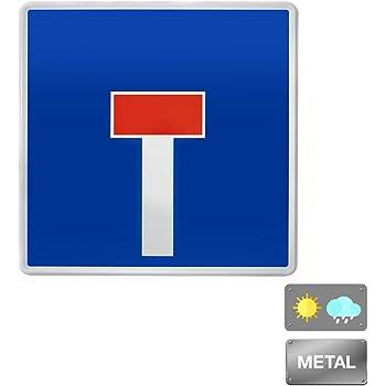 Normaluz V10025 - Señal Vial Cuadrada Calzada Sin Salida Metálica Termolacada 50 cm, Azul: Amazon.es: Industria, empresas y ciencia