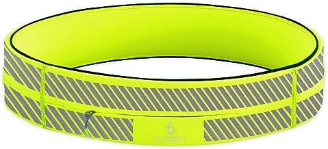 FlipBelt Zipper, Reflective Neon Yellow, Medium