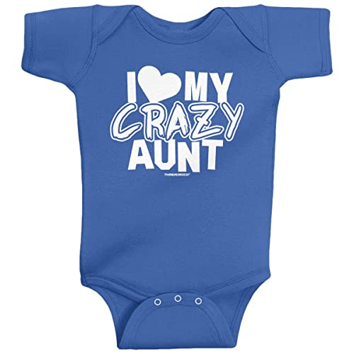 7f91cbe2 Threadrock Unisex Baby I Love My Crazy Aunt Bodysuit