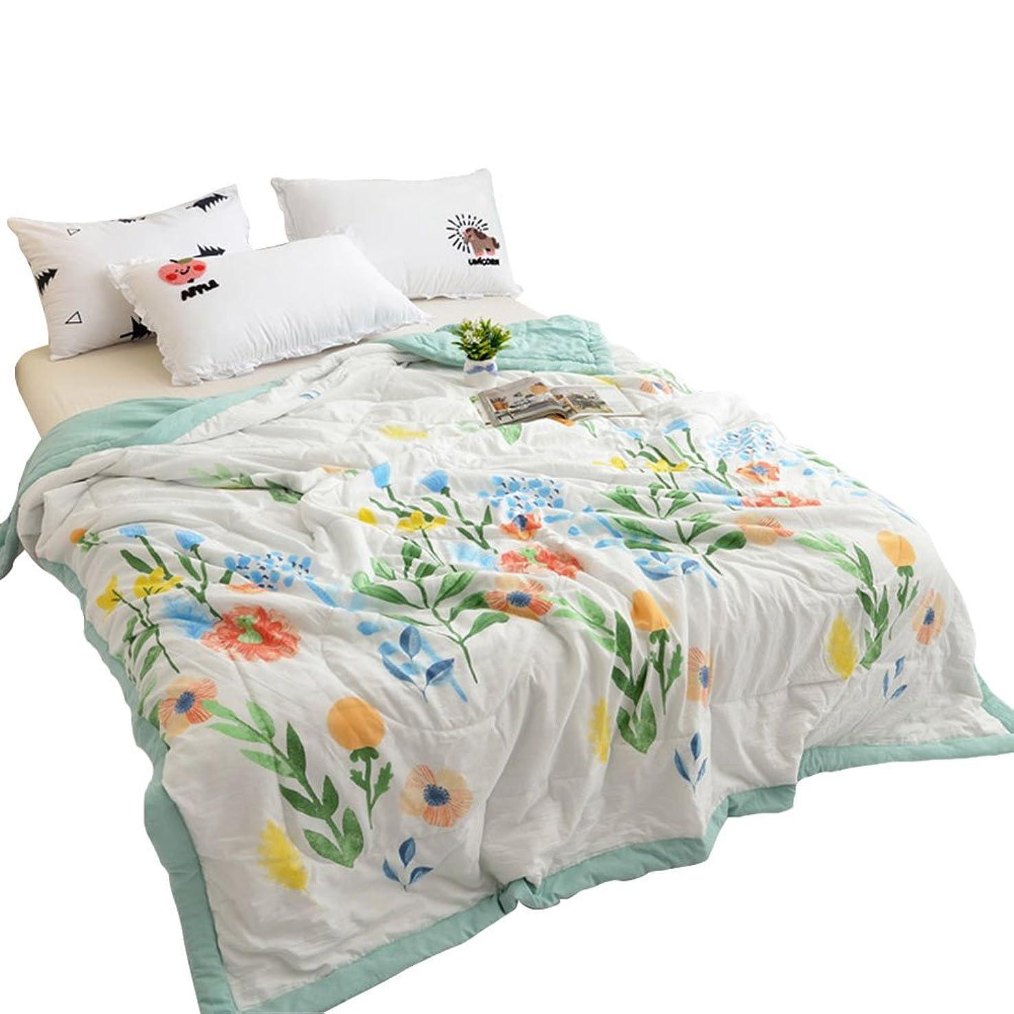 下向き温室十分な肌掛け布団 夏用 洗える シングル ダブル セミダブル 掛けふとん 吸湿性&通気性に優れ 薄手,180,水色