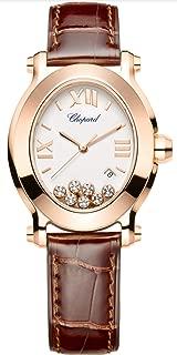 Chopard 18kt Rose Gold Happy Sport Floating Diamonds Oval Quartz Ladies Watch