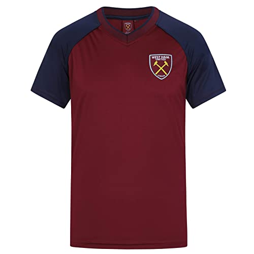 c30cc2b95 West Ham United FC Official Football Gift Mens Poly Training Kit T-Shirt