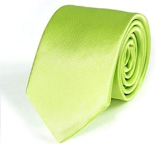 335bc4e2c1e11 Dandytouch Cravate Slim Vert anis Fabriqué en europe