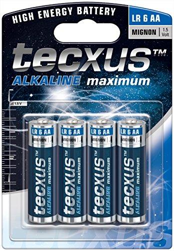 Tecxus 23633 LR6/AA (Mignon) - alkaline manganese battery 1.5 V, blue /...